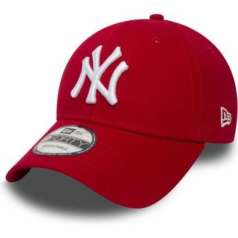 New Era Curved Brim 9FORTY Essential New York Yankees MLB Adjustable Cap rot