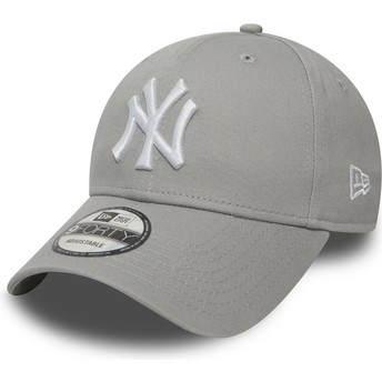 Casquette courbée grise ajustable 9FORTY Essential New York Yankees MLB New Era