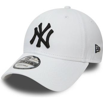 New Era Curved Brim 9FORTY Essential New York Yankees MLB Adjustable Cap weiß