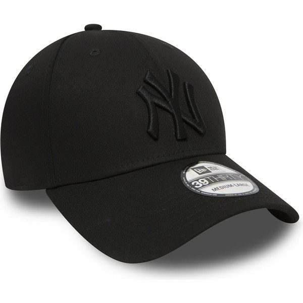 casquette-courbee-noire-ajustee-avec-logo-noir-39thirty-classic-new-york-yankees-mlb-new-era