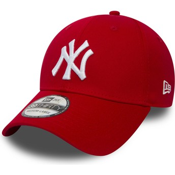 Casquette courbée rouge ajustée 39THIRTY Classic New York Yankees MLB New Era