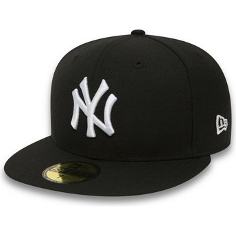 Casquette plate noire ajustée 59FIFTY Essential New York Yankees MLB New Era