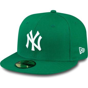 New Era Flat Brim 59FIFTY Essential New York Yankees MLB Fitted Cap grün