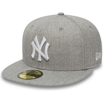 Casquette plate grise ajustée 59FIFTY Essential New York Yankees MLB New Era