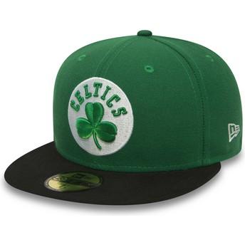 New Era Flat Brim 59FIFTY Essential Boston Celtics NBA Fitted Cap grün