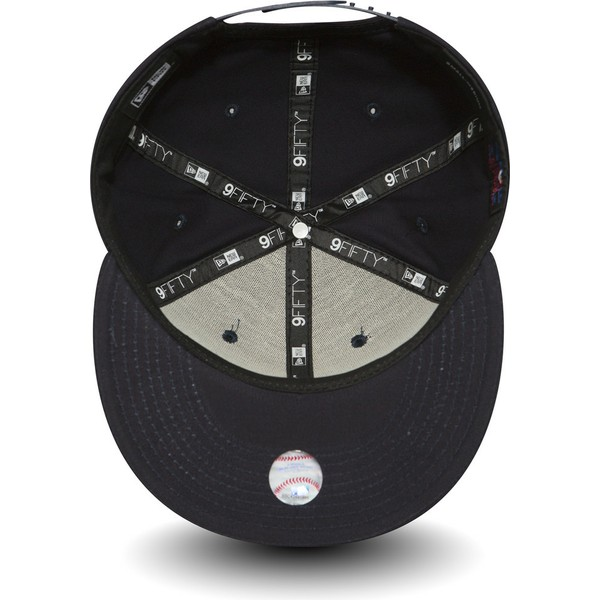 casquette-plate-bleue-marine-snapback-9fifty-essential-boston-red-sox-mlb-new-era