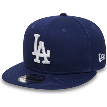 Casquette plate bleue snapback 9FIFTY Essential Los Angeles Dodgers MLB New Era
