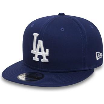 New Era Flat Brim 9FIFTY Essential Los Angeles Dodgers MLB Snapback Cap blau
