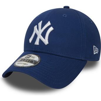 New Era Curved Brim 9FORTY Essential New York Yankees MLB Adjustable Cap blau