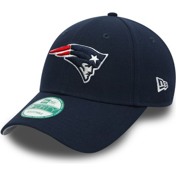 Casquette courbée bleue marine ajustable 9FORTY The League New England Patriots NFL New Era