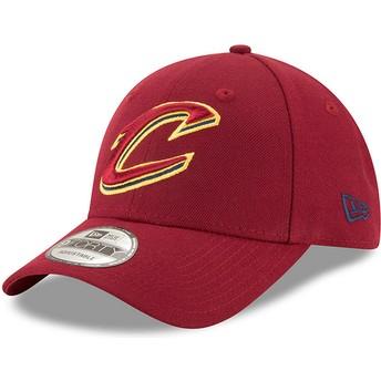 Casquette courbée rouge ajustable 9FORTY The League Cleveland Cavaliers NBA New Era