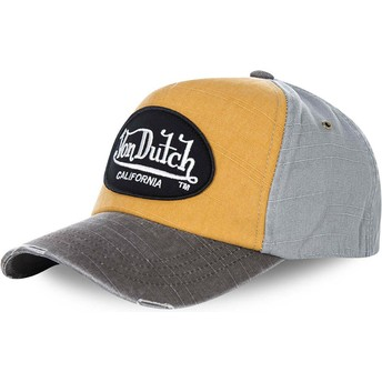 Von Dutch Curved Brim JACKGOG Adjustable Cap gelb und grau