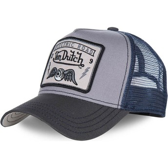 Casquette trucker grise et bleue SQUARE3B Von Dutch