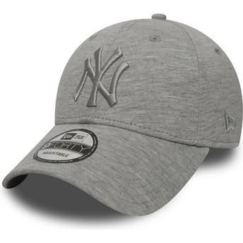 Casquette courbée grise ajustable avec logo grise New York Yankees MLB 9FORTY Essential New Era
