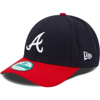Casquette courbée bleue marine et rouge ajustable 9FORTY The League Atlanta Braves MLB New Era