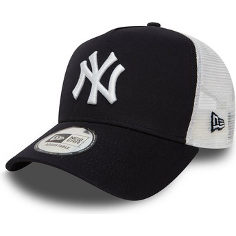 Casquette trucker bleue marine Clean A Frame 2 New York Yankees MLB New Era