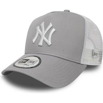 New Era Clean A Frame 2 New York Yankees MLB Trucker Cap grau
