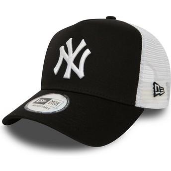 New Era Clean A Frame 2 New York Yankees MLB Trucker Cap schwarz