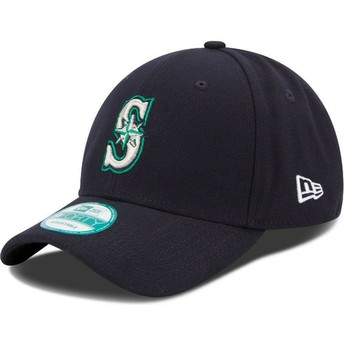 Casquette courbée bleue marine ajustable 9FORTY The League Seattle Mariners MLB New Era