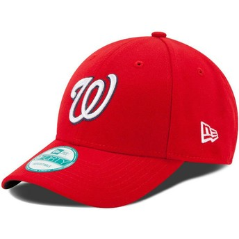 Casquette courbée rouge ajustable 9FORTY The League Washington Nationals MLB New Era