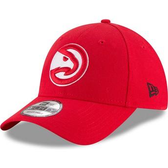 Casquette courbée rouge ajustable 9FORTY The League Atlanta Hawks NBA New Era