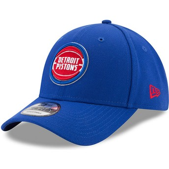 Casquette courbée bleue ajustable 9FORTY The League Detroit Pistons NBA New Era