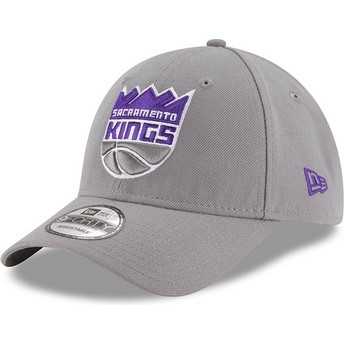 Casquette courbée grise ajustable 9FORTY The League Sacramento Kings NBA New Era
