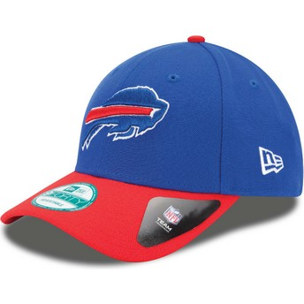 Casquette courbée bleue et rouge ajustable 9FORTY The League Buffalo Bills NFL New Era