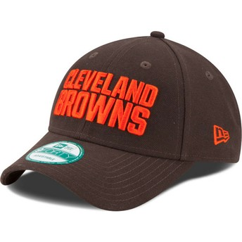 Casquette courbée marron ajustable 9FORTY The League Cleveland Browns NFL New Era