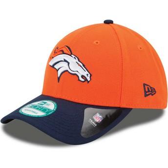 Casquette courbée orange et bleue marine ajustable 9FORTY The League Denver Broncos NFL New Era