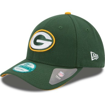 Casquette courbée verte ajustable 9FORTY The League Green Bay Packers NFL New Era