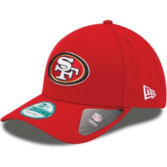 New Era Curved Brim 9FORTY The League San Francisco 49ers NFL Adjustable Cap rot