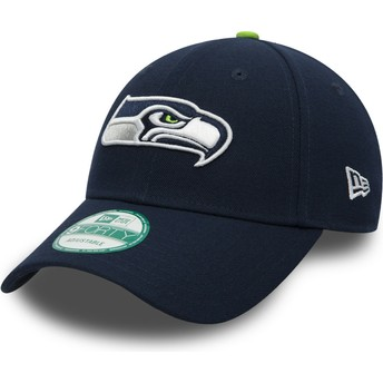 Casquette courbée bleue marine ajustable 9FORTY The League Seattle Seahawks NFL New Era