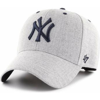 47 Brand Curved Brim New York Yankees MLB MVP Storm Cloud Adjustable Cap grau