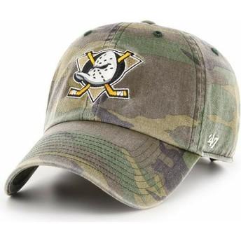 47 Brand Curved Brim Anaheim Ducks NHL Clean Up Adjustable Cap camo
