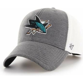 47 Brand Curved Brim San Jose Sharks NHL MVP Haskell Cap grau