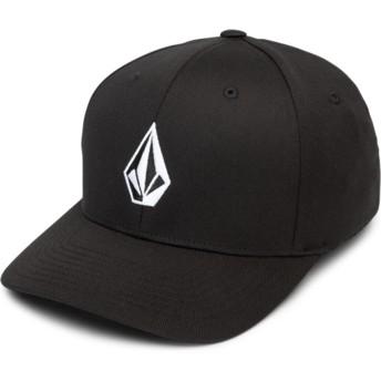 Volcom Curved Brim Black Full Stone Xfit Fitted Cap schwarz