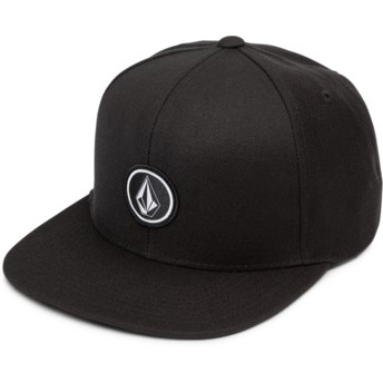 Volcom Flat Brim Black Quarter Twill Snapback Cap schwarz