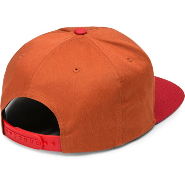 casquette-plate-orange-snapback-avec-visiere-rouge-cresticle-copper-volcom