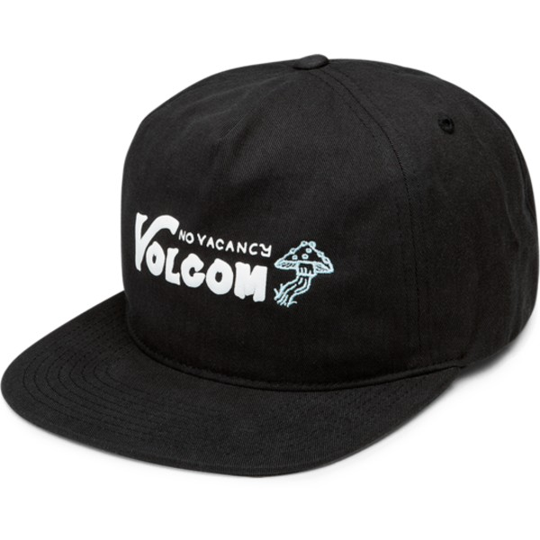 casquette-plate-noire-snapback-no-vacancy-stealth-volcom