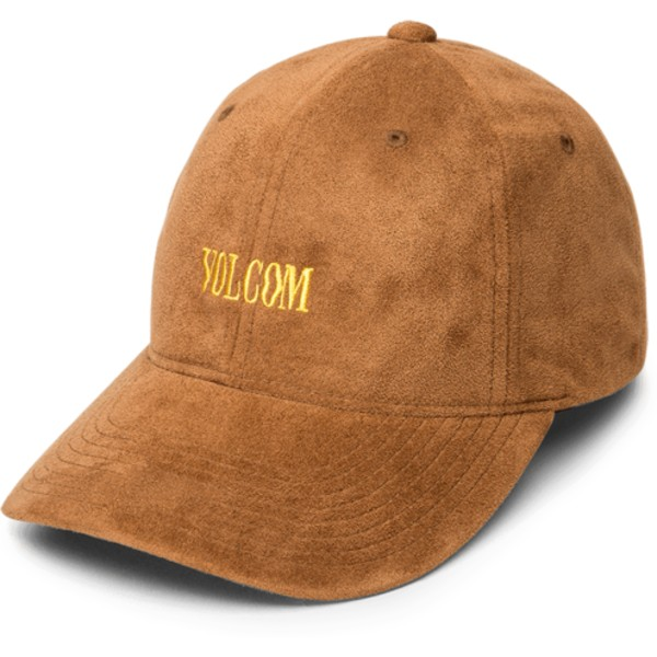 casquette-courbee-marron-ajustable-weave-mud-volcom