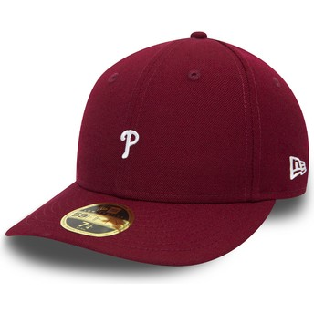 Casquette courbée violette ajustée 59FIFTY Low Profile Mini Logo Philadelphia Phillies MLB New Era