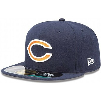 Casquette plate bleue marine ajustée 59FIFTY On Field Chicago Bears NFL New Era