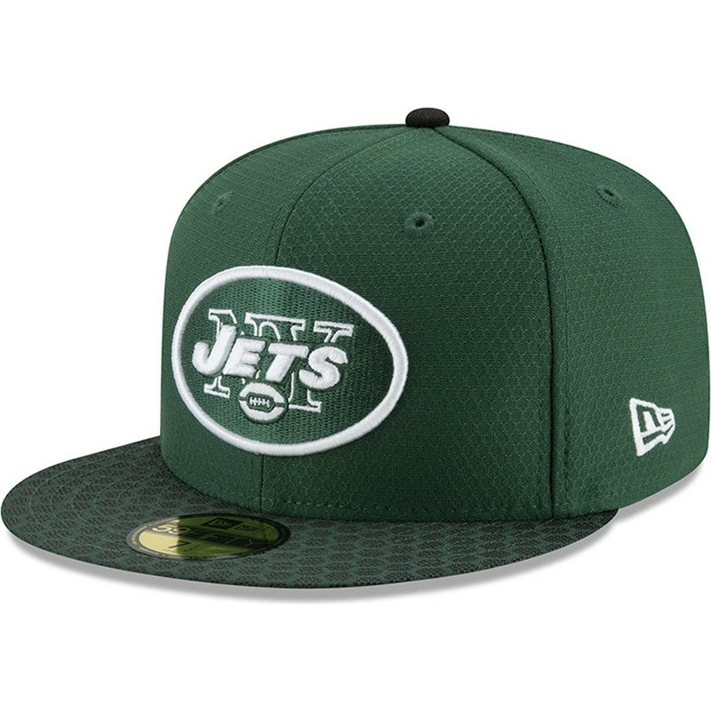 casquette-plate-verte-ajustee-59fifty-sideline-new-york-jets-nfl-new-era