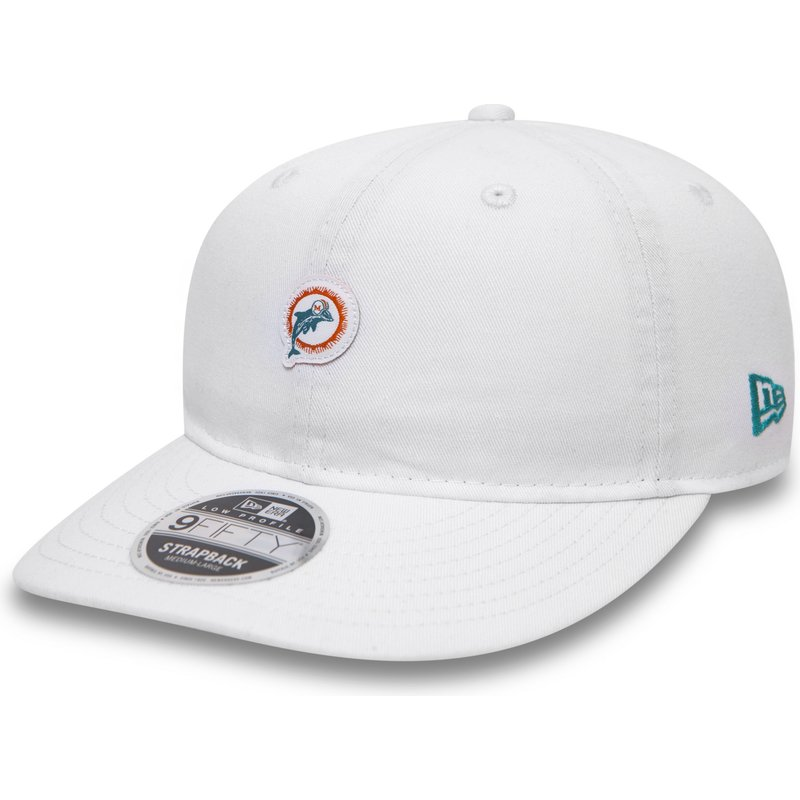 casquette-plate-blanche-snapback-9fifty-low-profile-unstructured-miami-dolphins-nfl-new-era