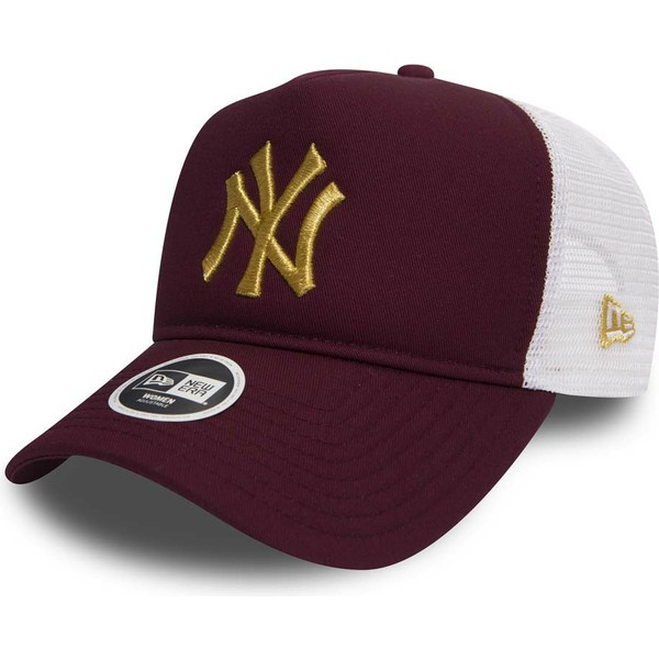 casquette-trucker-grenat-avec-logo-or-9forty-essential-new-york-yankees-mlb-new-era