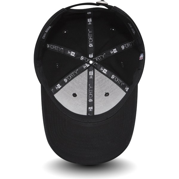 casquette-courbee-noire-ajustable-9forty-felt-infill-brooklyn-nets-nba-new-era