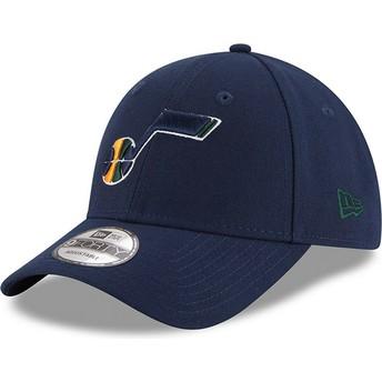 New Era Curved Brim 9FORTY The League Utah Jazz NBA Adjustable Cap verstellbar marineblau