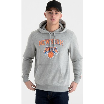 New Era Pullover Hoodie Kapuzenpullover New York Knicks NBA Sweatshirt grau