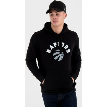 Sweat à capuche noir Pullover Hoody Toronto Raptors NBA New Era
